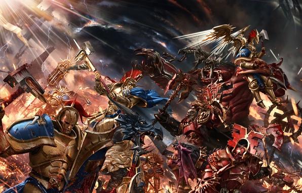 Picture fiction, war, battle, Warhammer, art, Warhammer Age of Sigmar, Gates of Azyr