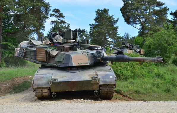 Picture forest, tank, armor, Abrams, Abrams, M1A2