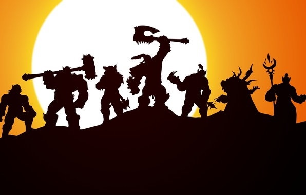 Picture orcs, wow, world of warcraft, ork, Horde, warchief, Grom Hellscream, Horde, Grom Hellscream, Grommash, Durotan, …