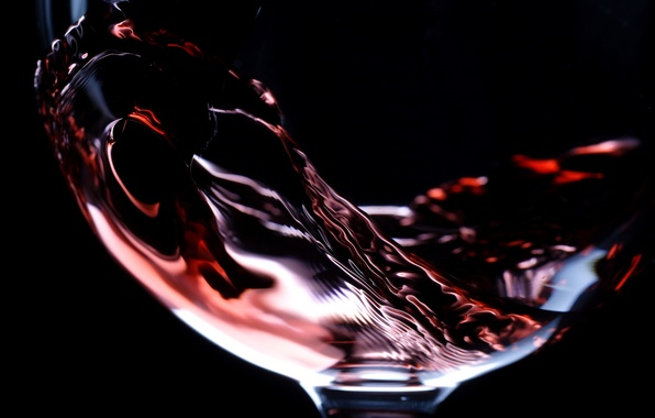 Picture glass, macro, wine, red, glass, liquid