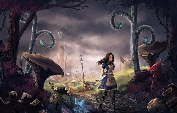 Picture art, wonderland, alice, Alice: Madness Returns