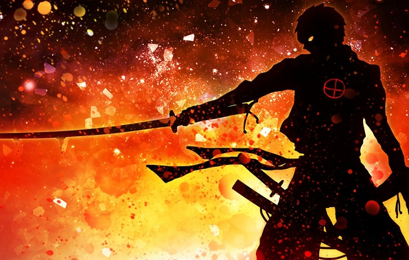 Picture demon, wallpaper, fire, battlefield, red, flame, sword, gun, blood, game, armor, devil, smoke, weapon, war, ...