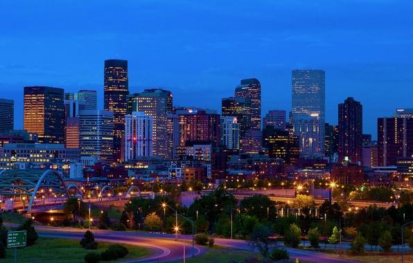 Picture Colorado, panorama, USA, America, skyline, Denver, Usa, Colorado, Denver