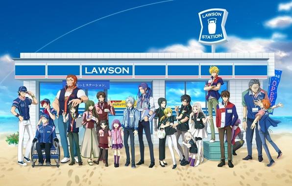 Picture children, girls, stay, guys, company, saber, lancer, characters, rider, assassin, fate zero, gilgamesh, rin tohsaka, …