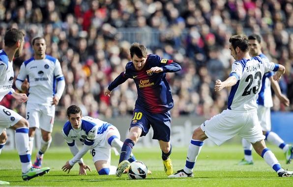 Picture The ball, Sport, Football, Spain, Lionel Messi, Lionel Messi, Camp Nou, FC Barcelona, FC Barcelona, …