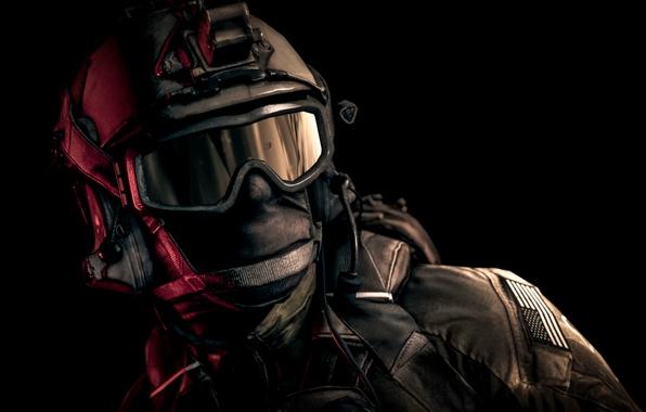 Picture glasses, soldiers, helmet, equipment, Battlefield 4