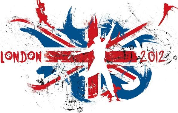 Picture London, flag, logo, Olympics, 2012, UK