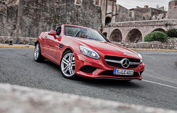 Photo wallpaper Mercedes-Benz, convertible, Mercedes, R172, SLC-Class