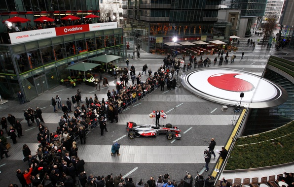 Picture sport, formula 1, the car, formula 1, the audience, the view from the top, two …