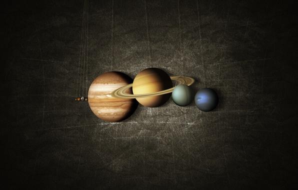 Picture planet, map, Saturn, Earth, Mars, Jupiter, Neptune, Mercury, Venus, system, solar, Uranium, on a string