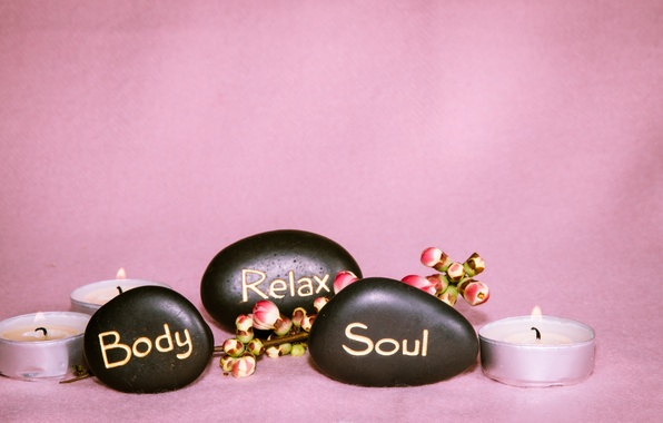 Wallpaper flowers candles spa spa candles the flowers for Salon wallpaper
