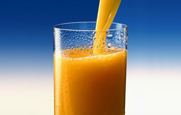 Picture glass, orange, juice, juice, Orange