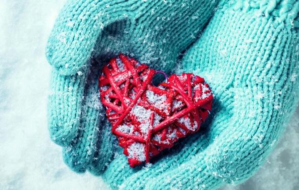Picture winter, snow, love, heart, hands, love, heart, winter, snow, hands