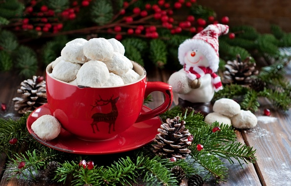 Picture holiday, food, cookies, Christmas, Cup, New year, snowman, Christmas, dessert, food, cup, sweet, New Year, …