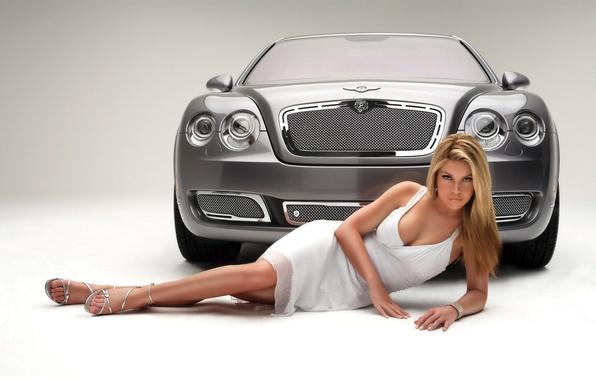 Picture auto, girl, Bentley