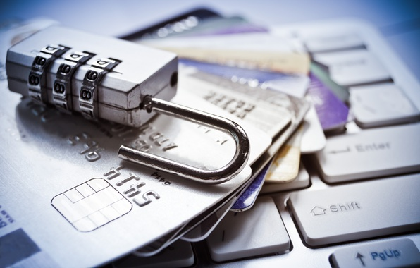 Picture keyboard, credit cards, debit, computer security