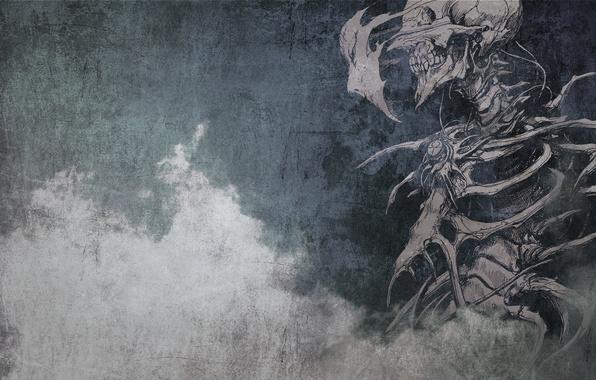 Picture skull, bones, skeleton, grin