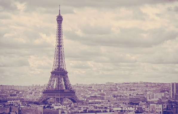 Picture the sky, the city, background, widescreen, Wallpaper, Eiffel tower, building, Paris, wallpaper, France, attraction, widescreen, …