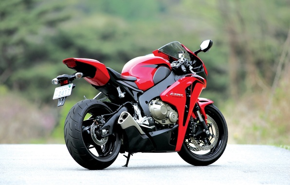 Picture motorcycle, red, honda, rear view, bike, Honda, exhaust pipe, cbr1000rr