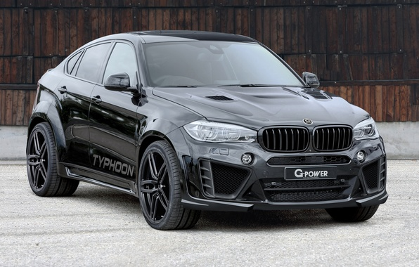 Picture black, BMW, BMW, G-Power, crossover, X6 M, F86