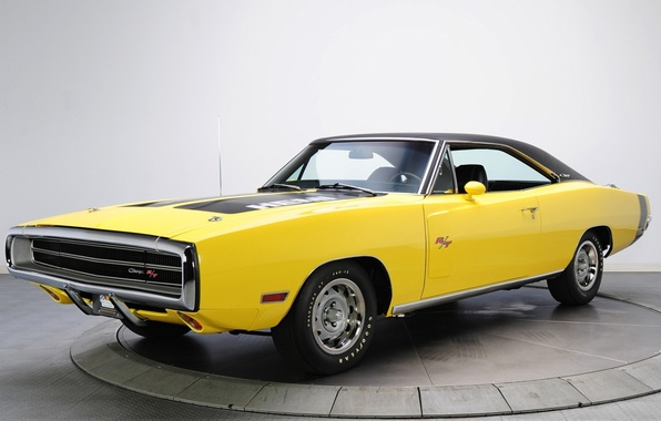 Picture yellow, background, Dodge, Dodge, Charger, 1970, the front, Muscle car, Muscle car, 426, Hemi, R …