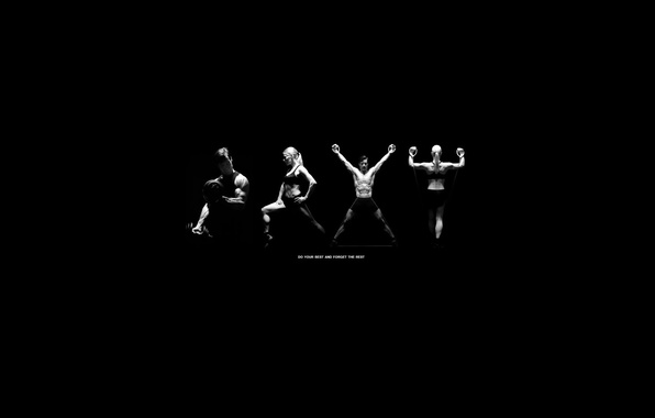 Picture black and white, sport, motivation, workout