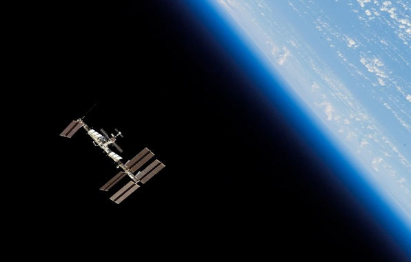 Picture space, planet, station, Earth, orbit, ISS