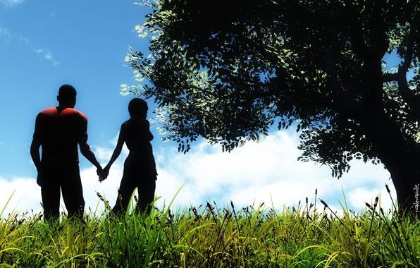 Picture love, landscape, nature, feelings