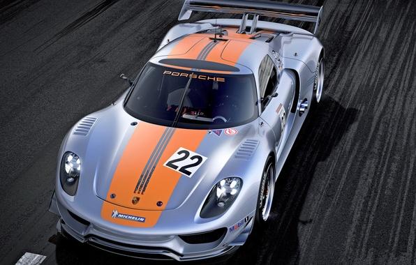 Picture car, Concept, lights, Porsche, wallpaper, 918, the front, RSR