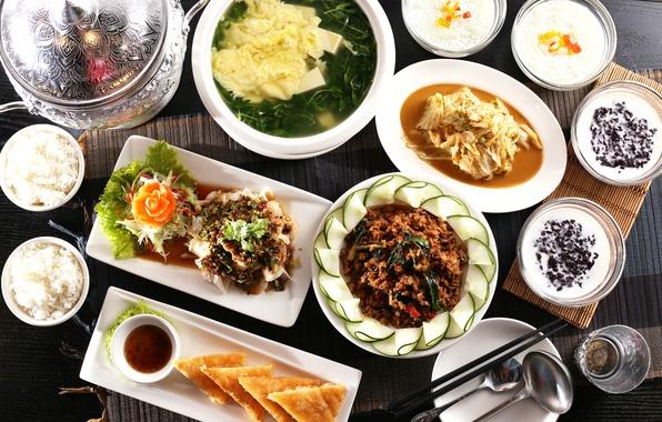 Picture soup, figure, vegetables, Japanese cuisine, meals, cuts