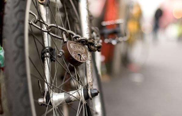 Picture bike, castle, wheel