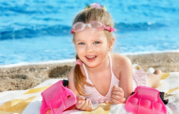Picture sea, beach, summer, joy, happiness, children, child, cute, summer, beach, sea, beautiful, beautiful, child, cute, …