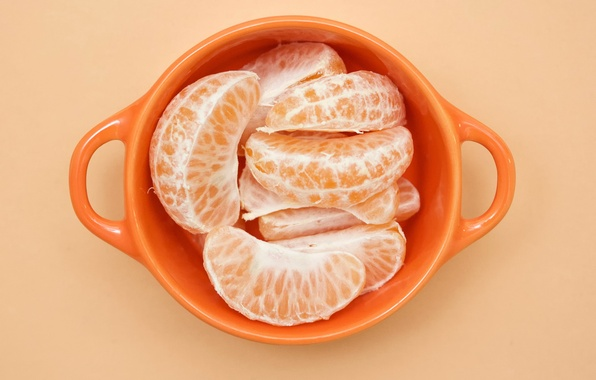 Picture Cup, tangerines, Orange cubed