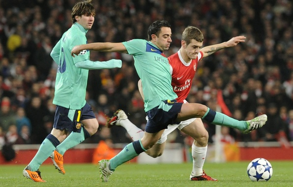 Picture football, Barcelona, Arsenal, Messi, Javi, Wilshire