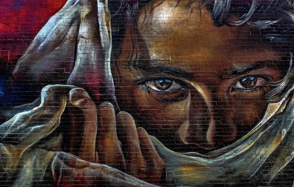 Picture look, wall, paint, graffiti, Graffiti