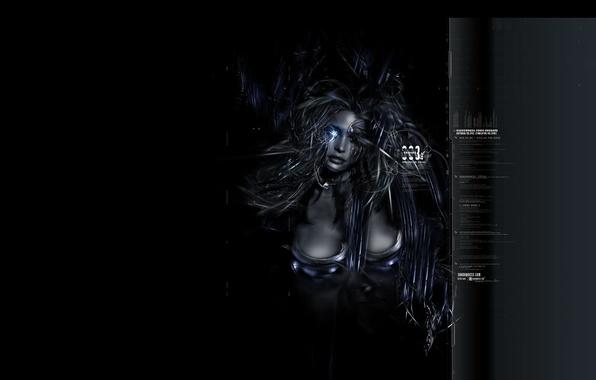 Picture girl, dark, art