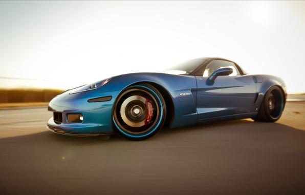 Picture Z06, corvette, chevrolet, blue