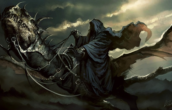 Picture The Lord of the rings, cloak, art, Nazgul, nazgul, The lord of the rings