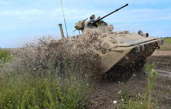 Picture machine, dirt, combat, APC, infantry, BTR-80\82