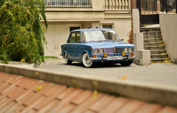 Picture background, car, classic, legend, Lada, vaz, VAZ, Lada, 2103, low classic, Resto