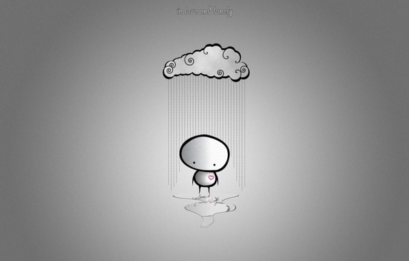 Picture clouds, love, loneliness, rain, minimalism, humor, love, rain, cloud, mood, broken heart, lonely, Minimalism, humor, …