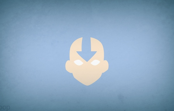 Picture minimalism, Avatar, avatar, blue background, blo0p, Avatar: The Last Airbender, Aang