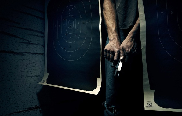 Picture gun, Wallpaper, target