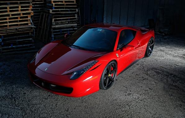 Picture ferrari, Ferrari, red, tuning, 458 italia, vorsteiner