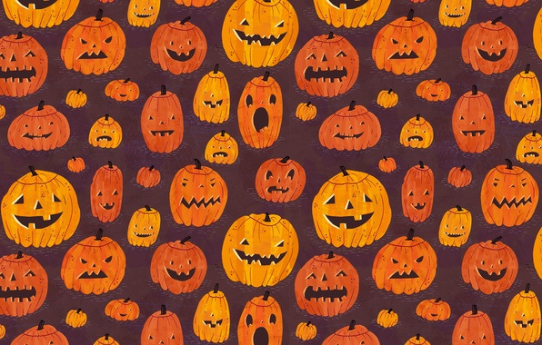 Picture texture, pumpkin, Halloween
