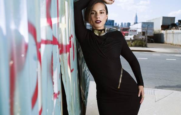 Picture Alicia Keys, Wall, Singer