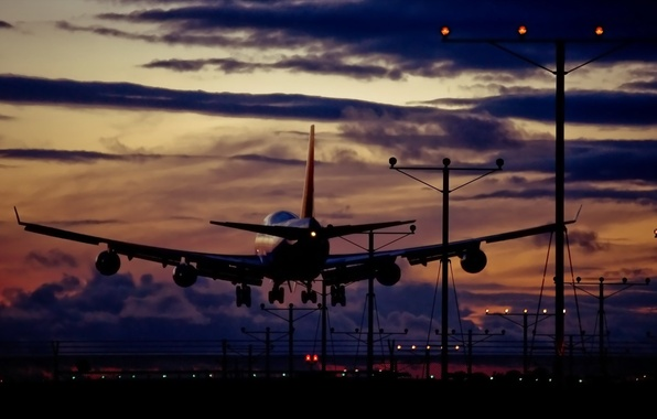 Picture aviation, the plane, airport, the rise