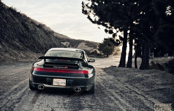 Picture black, Porsche, Carrera, 996, feed
