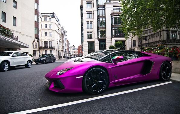 Picture tuning, Lamborghini, supercar, Purple, Lamborghini, Aventador, aventador, LP760-2