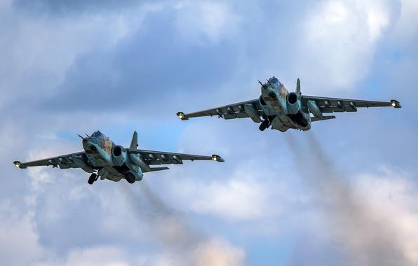 "Picture pair, flight, attack, subsonic, armored, ""rook"", Sukhoi Су-25"